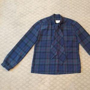 New listing! Vintage plaid blouse